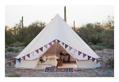 The 16.5 Ft in diameter Stout Bell Tent  sc 1 st  eBay & Bell Tent Basics - The Yurt Tipi Sibley Glamping Tent | eBay