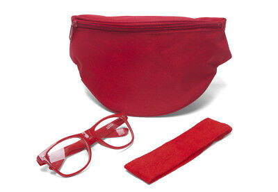 Festival Accessory Kit w/ Fanny Pack, Clear horn-rimmed and Headband