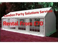 From £70 MARQUEE /FOLDING CHAIR £1.50/PARTY CANOPY TENT HIRE