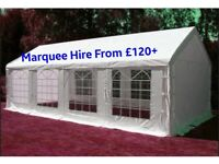 Marquee/Gazebo/Tent for hire from £120 plus. Folding Chair hire £1