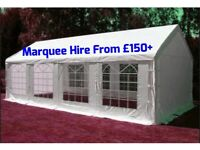 Marquee/Tent/Gazebo hire from £150 plus. Folding Chair hire £1. Pickup £1.50