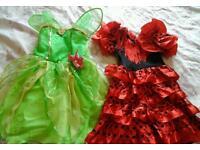Girls fancydress 7 dresses £10