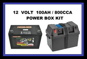 POWER BATTERY BOX 12V 100AH 800CCA,DEEP CYCLE AGM DUAL SYSTEM PROJECTA BPE330