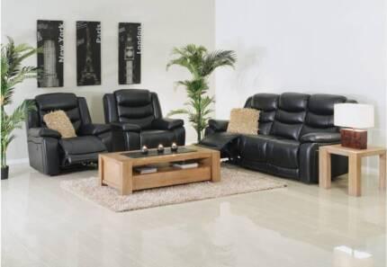 Brand New PU leather Lounge Sofa/Recliner Sofa set – Black/Beige Bundall Gold Coast City Preview