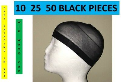 10 25 50 PIECE WIG CAPS BLACK BROWN BEIGE STOCKING U PICK BULK USA SHIPPER WAVE](Wig Caps Bulk)