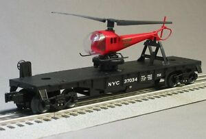 LIONEL-NYC-FLYER-FLATCAR-LAUNCHING-HELICOPTER-train-car-6-30156