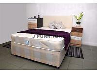 BEST QUALITY DOUBLE DIVAN BED BASE WITH SEMI ORTHOPAEDIC MATTRESS AVAILABLE IN OTHER SIZES