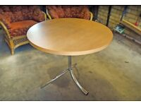Circular wooden John Lewis table with chrome legs
