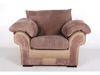 Armchair Lounge Chair Fine Quality Suede Velvet Light Mocha ** FREE LOCAL DELIVERY - 2 MAN TEAM **