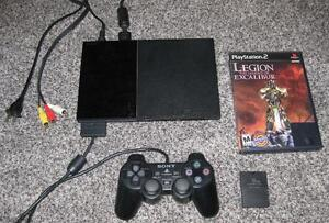PLAYSTATION 2 SLIM SYSTEM + LEGION THE LEGEND OF EXCALIBUR AND MEMORY CARD!