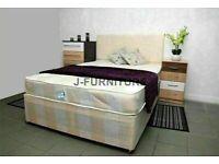 🔵💖🔴VARIOUS COLOR🔵💖🔴DOUBLE DIVAN BED + DEEP QUILT MATTRESS & HEADBOARD /DRAWERS OPTION