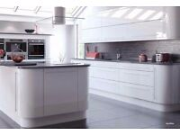 REPLACEMENT HIGH GLOSS KITCHEN SLAB DOORS PREMIUM SPRAY LACQUERED ALL SIZES 7 STUNNING COLOURS