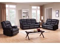 SALE NOW - RECLINER ORIGINAL BONDED LEATHER 3+2 SEATER or CORNER SOFA SET - SAME DAY