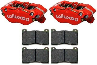 "WILWOOD DYNAPRO BRAKE CALIPERS & PADS,W/ DUST BOOTS,RED,DPDB,0.81"" DISCS,1.75"""