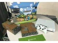 xbox one s minecraft edition + infinite warfare and titanfall 2