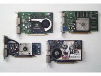 PCIe Dual Monitor Graphics Cards - Nvidia + Radeon (shown working) Video Card, Display, VGA, DVI, PC