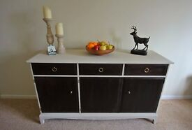 Sideboard Chiffonier Stag Minstrel Furniture Cupboard Storage Cream and Mahogany with Wood Effect