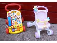 Vtech Walker & Fisher Price Walker Push Along Toys