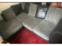 Grey and black sofa