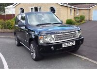 2002 Range Rover V8 AUTO 4.4cc - LPG Gas – DVD & Screen. Cream Leather. land rover car like diesel