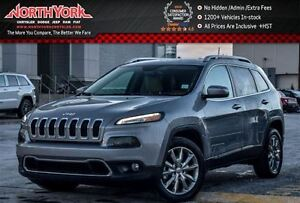 2016 Jeep Cherokee Limited|Leather|Nav|R.Start|Backup Cam|HTD Fr