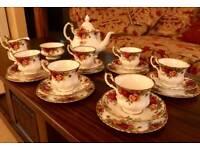 Royal Albert Old Country Rose tea set 21 piece set