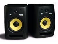 KRK RP8 G2 STUDIO MONITORS + TASCAM MIDI CONTROLLER + XLR LEADS + MANUAL
