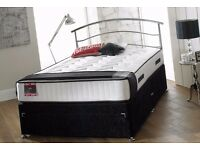 Brand New Stress Free Memory Divan Bed Set Single/Double/King from only £100!!