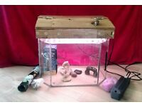 Aquarium Tank with filter, light unit and accessories. Lovely size