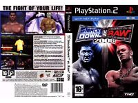 WWE Smackdown vs raw 2006 ps2 game for £4