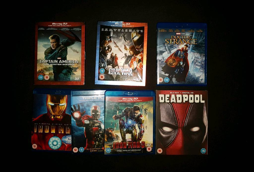 Various bluray movies some 3D blu ray