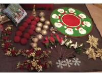 Christmas Decorations of Baubles Mat Cushions Garlands Flowers Stars...