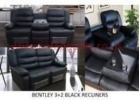 bentley 3+2 recliner sofa set with many more sofas, beds, tv beds, wardrobes on offer call now