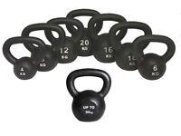 Kettlebells Cast Iron From £8.00 Free Workout DVD 4kg- 50kg Kettlebells: NEW