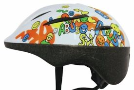 NEW, ABUS LIGHTWEIGHT HELMET +RED LED LIGHT CHILD YOUTH CYCLING BIKE BICYCLE Sizes: S, M