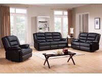 Recliner sofa 3 And 2 seater in pure leather