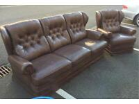 Sofa and Chair ( Chesterfield Style)