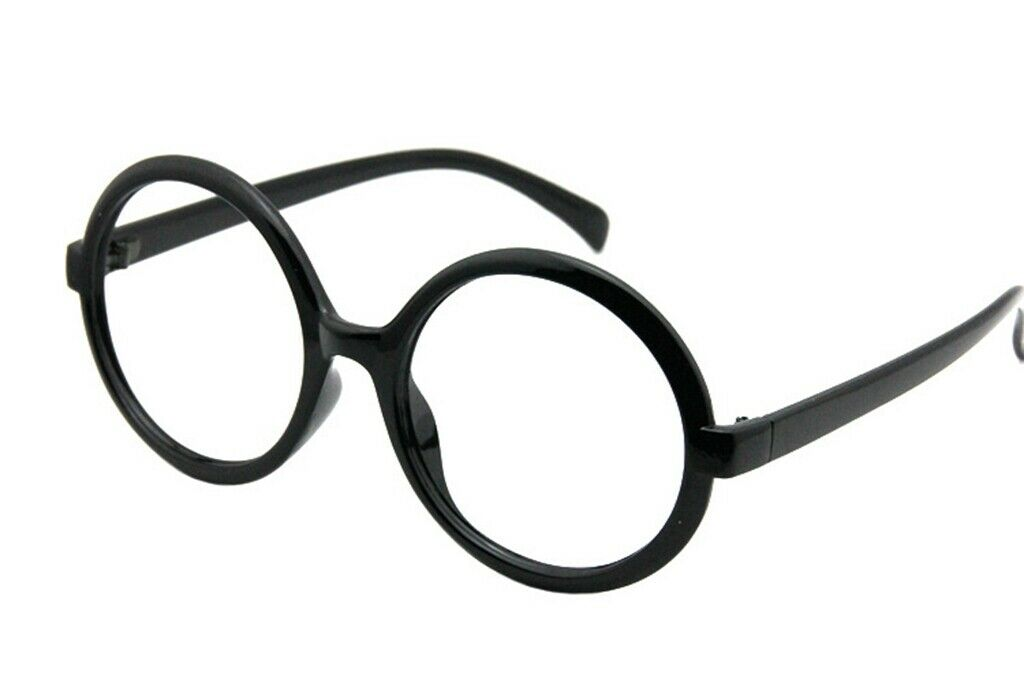 Harry Potter Black Resin Glasses With Lens Frame Fancy Costume Cosplay NEW