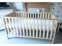 BRAND NEW MOTHERCARE COTBED CONVERTS INTO JUNIOR BED WITH BRAND NEW MATTRESS £50
