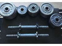 York Dumbell weight set