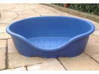 """DOG BASKET Large Oval L36""""D25.5""""H12"""" VERY GOOD CONDITION Heavy Duty Plastic"""