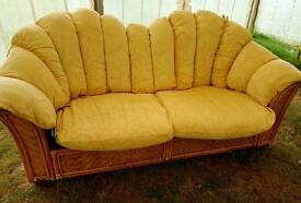 Bamboo conservatory sofa