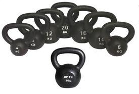 Kettlebells Cast Iron From £8.00 Free Workout DVD 4kg- 50kg Kettlebells, NEW CAST IRON