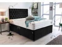 PLUSH VELVET DIVAN BEDS MADE TO ORDER