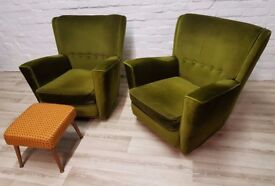 Pair Of Mid- Century Armchairs (DELIVERY AVAILABLE)