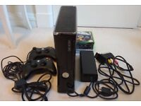 Xbox 360 Console + 2 Controllers + Cables + Games £50