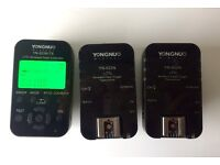 YONGNUO Wireless HSS I-TTL Flash 1x YN622N-TX Controller and 2x YN622 N Transceiver triggers