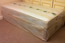 ***New*** Complete Single Divan Bed with Mattress (07440 332255)