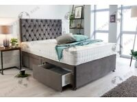 HAND CRAFTED UK DIVAN BEDS IN PLUSH VELVET