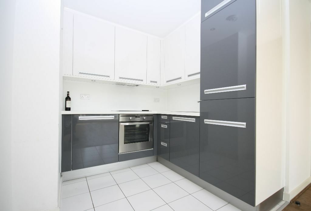 Modern one bed flat with balcony, gym and concierge now Fully Furnished
